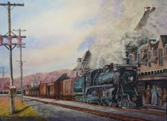 Roy Tibbits Canada Local 2622 at McAdam Station 20x29""