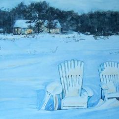 Sally Martin Canada Waiting for Summer 28x20""