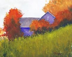 "Zan Barrage Canada Brisk Autumn Morning 10x8"""