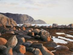 "Peter Marsh Canada Evening Glow, Rocky Harbour Newfoundland 22x30"""