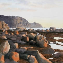 Peter Marsh Canada Evening Glow, Rocky Harbour Newfoundland 22x30""