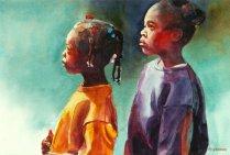 """Honourable Mention: Margaret Roseman Canada Sisters 22x15"""""""