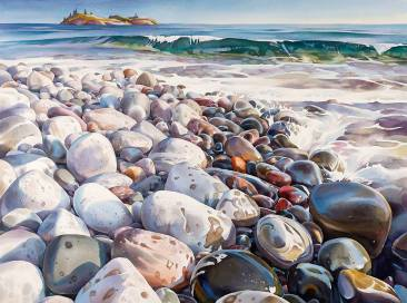 """First Place National: David McEown Canada Lake Superior Shoreline #3 32x41"""""""