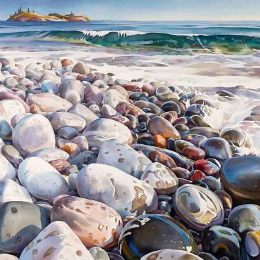 First Place National: David McEown Canada Lake Superior Shoreline #3 32x41""