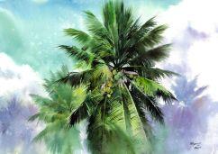 Moshe Dayan Bhupathi India Celebration of Light 75x54 cm