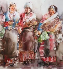 Hong Shan China Merry Songs 110x120 cm