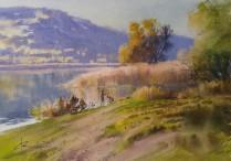 Ihor Mosiichuk Ukraine Warm Evening 35x50 cm