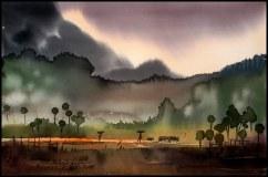 Kariyappa Hanchinamani India A Evening 56x38 cm