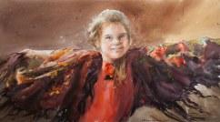 Oksana Shulga Russia Bird 75x40 cm