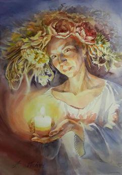 Alyonka Vechur Ukraine Divination to the Groom 70x50 cm
