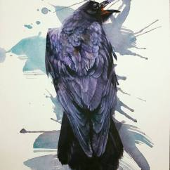 Young Hwan Moon South Korea Raven-Cry 11x14""
