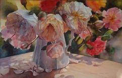 Svetlana Orienko New Zealand Bouquet of Roses 52x72 cm