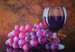 Julio Casanova Bolivia Vino Tinto 52x38 cm