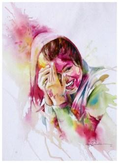 Azita Davarkhah Iran Holi Festival 50x70 cm