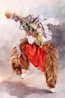 Manuel Garcia Ecuador Danzante del Sol 76x56 cm