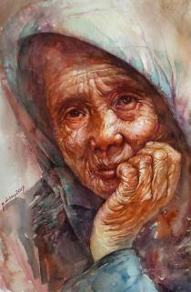 Nguyen Thai Duong Viet Nam Beauty of Ages 35x56 cm