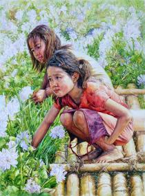 Soe Myint Sein Myanmar Girlish 76x56 cm