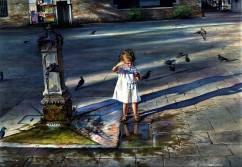 "Dwight Hoffman USA Water Angel 31x22 """