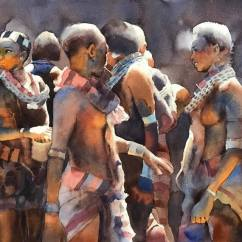 Boonkwang Noncharoen Thailand The celebration 38x56 cm