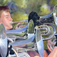 """Lorraine Watry USA Fanfare 18x28"""""""
