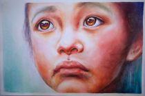 Chan Chi Hin Hong Kong Hesitation Girl 56x38 cm