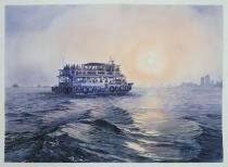 "Ravi Gulhane India Mumbai Ferry 22x32"""