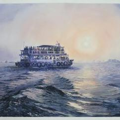 Ravi Gulhane India Mumbai Ferry 22x32""