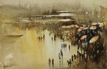 "Nadeesh Prabou India Celebrating the River 14x22"""