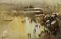 Nadeesh Prabou India Celebrating the River 14x22""
