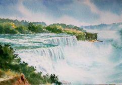Subhajit Paul India Glimpse of Niagara Falls 56x38 cm