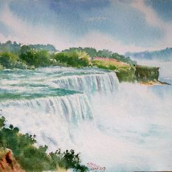 Subhajit Paul India Glimpse of Niagara Falls 56x38 cm