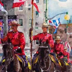 Yuechen Feng China Canada Day 54x39 cm