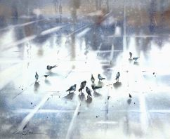Olga Kharchenko Russia Rainy Morning 30x35 cm