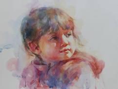 """Honourable Mention: Phyllis Tseng USA The Little Dreamer 12x16"""""""