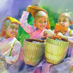 Third Place International: Moe Win Myanmar Happy Nuns 22x30""