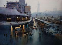 Honourable Mention: Nanasaheb B Yeole India Rainy Evening of Mumbai 76x56 cm