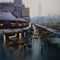 Honourable Mention: Nanasaheb B Yeole India Rainy Evening of Mumbai 76x56 cm