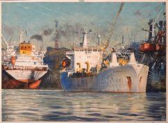 Sergiy Lysyy Lithuania Port 74x54 cm
