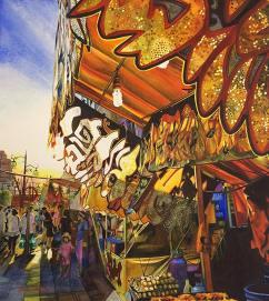 """Carrie Waller USA Japanese Festival 17x20"""""""