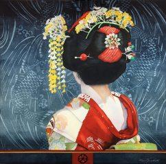 """Kim Minichiello USA Maiko's Misedashi 24x24"""""""