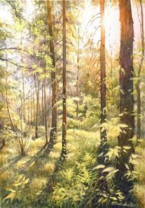 Nikolai Solodov Russia Russia. Village Kokoshkino. Summer day. 30x42 cm