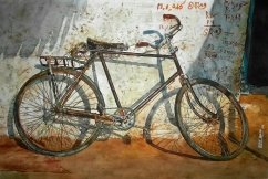 Uday Bhan India Cycle 56x38 cm