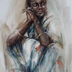 Rajesh Paravoor India Irular Lady 70x106 cm
