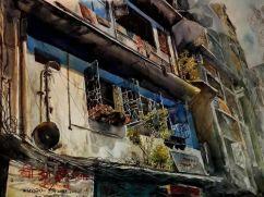 """International Youth Winner: Mrinal Banik Bangladesh Old Town 22x30"""""""