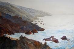 "Lin Souliere - Canada. Pacific Coastline. 15x22""."