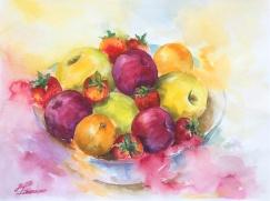 """Fariba Fahimi - Canada. Fruits. 11x15"""""""
