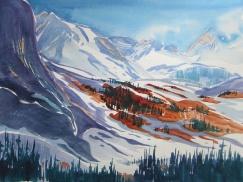 "Karin Richter - Canada. Mountain Symphony. 11x15""."