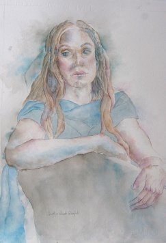 """Martha West Gayford - Canada. The Poet. 15x22""""."""