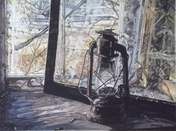 "Adrian Greene - Canada. The Oil Lamp. 11x15""."