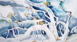 "Gord Wilson - Canada. Haliburton Winter. 12x19"""
